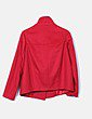 Abrigo rojo texturizado Benetton