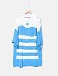 Vestido punto oversize rayas azules H&M