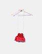 Mini saco serraje rojo con flecos The code