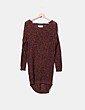 Vestido tricot calado color teja DESIRES