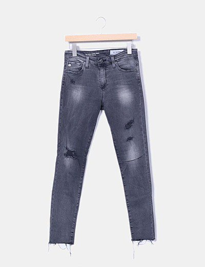 Jeans gris ripped