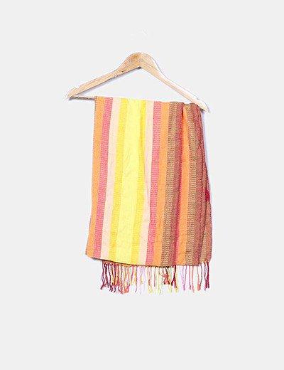 Pañuelo de rayas multicolor