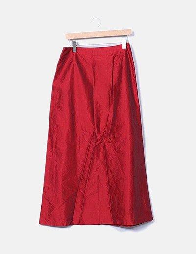 Falda maxi roja irisada