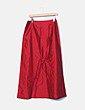Falda maxi roja irisada Miguel Berbel