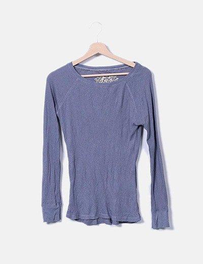 Top tricot gris