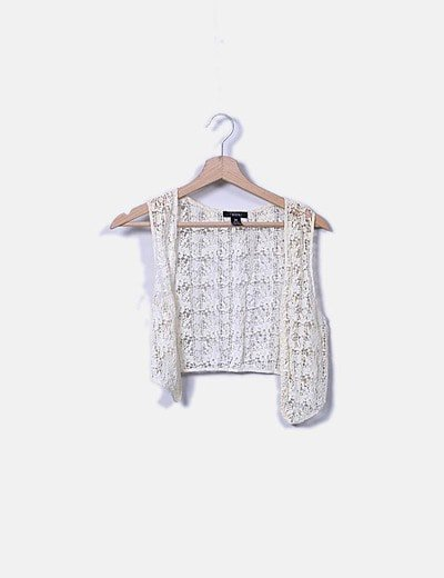 Chaleco crochet beige