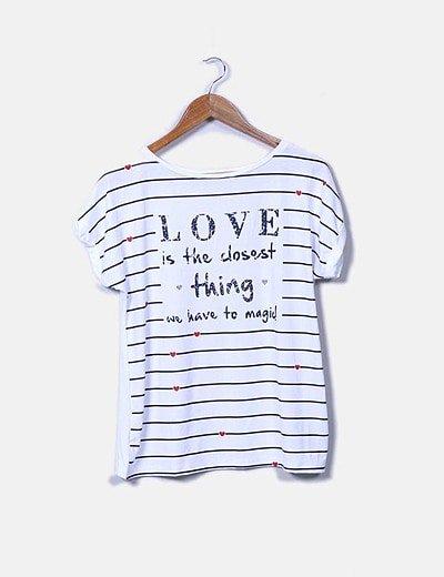 Camiseta de rayas con pedrería