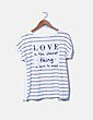 Camiseta de rayas con pedrería Camisetas