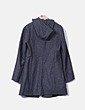 Abrigo largo gris con capucha Benetton