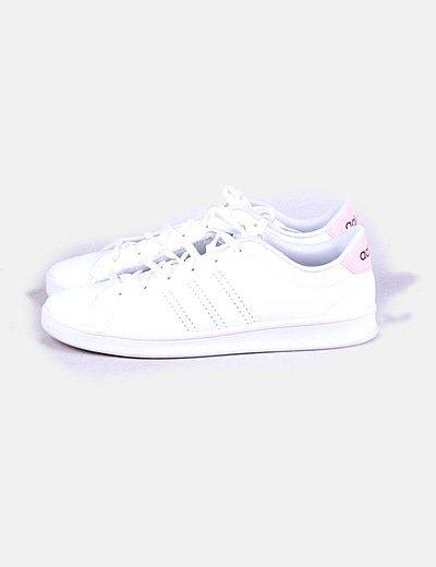 Adidas neo blanca y rosa