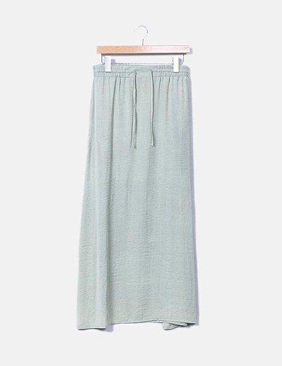 Falda verde maxi