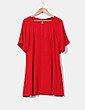 Vestido evasé rojo  Zara