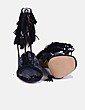 Sandalias tacón negras con flecos Steve Madden