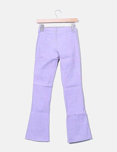 Zara Pantalon Lila Campana Descuento 80 Micolet