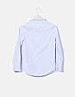 Camisa rayas azules bordado floral NoName