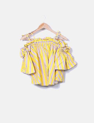 Blusa amarilla rayas