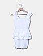 Vestido blanco peplum texturizado Misslulú