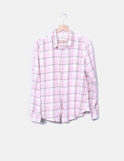 Camisa de cuadros rosa