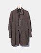 Abrigo largo marrón Benetton