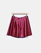 Mini falda polipiel frambuesa ONLY