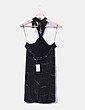 Vestido halter negro glitter Zara