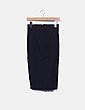 Falda tubo negro con cremalleras Zara