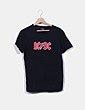 Camiseta negra AC/DC Zara