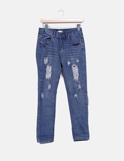Jeans denim deslavado