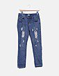 Jeans denim deslavado NoName