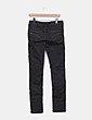 Jeans denim pitillo marrón Bershka